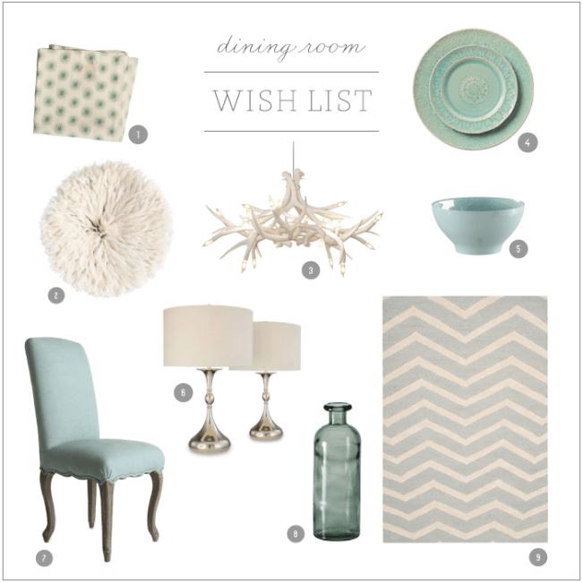 On my wish list: dining room