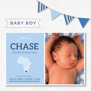 Announcing Chase | Baby boy stationery & wall art