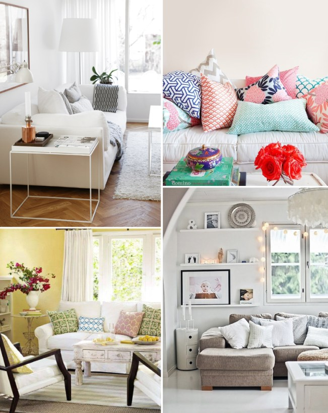 decorating your rental with cushions