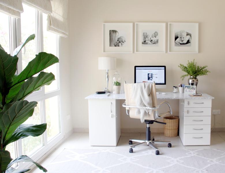 DIY faux marble desktop