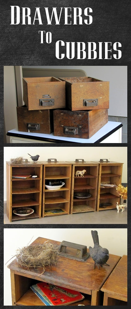 Barn Post Pottery Box Cubbies