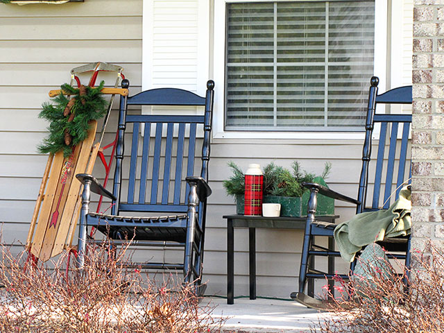 Rustic Christmas Decorations Porch