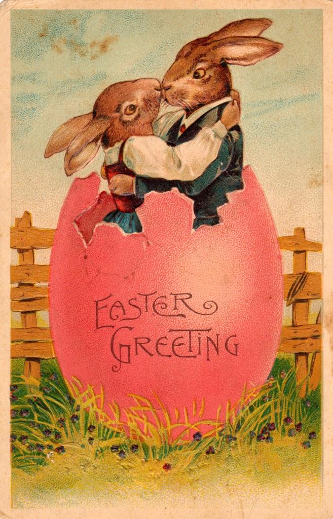 Vintage Easter Postcards Printable House Of Hawthornes