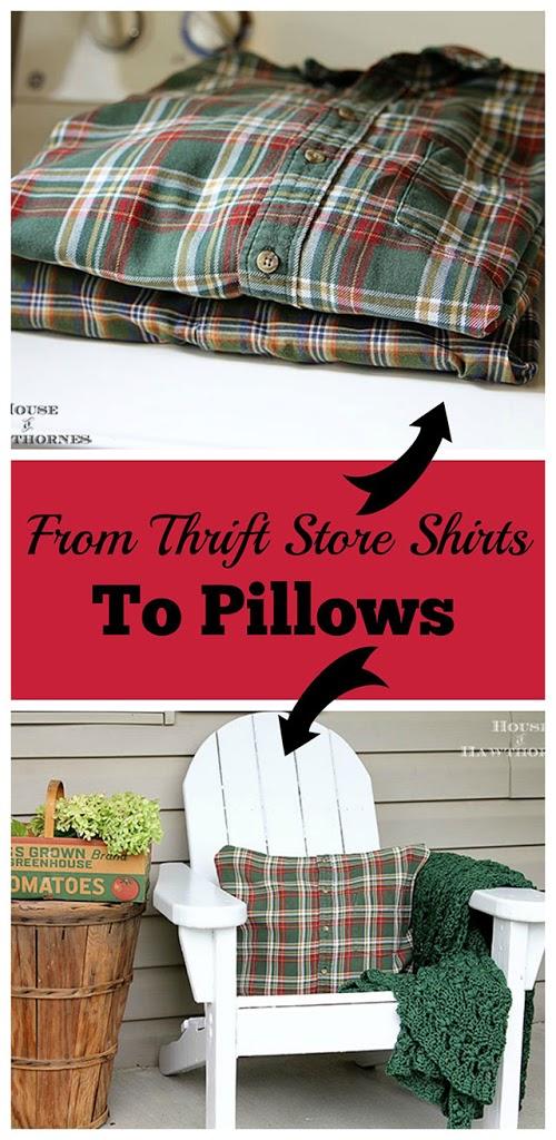 diy no sew shirt pillow tutorial