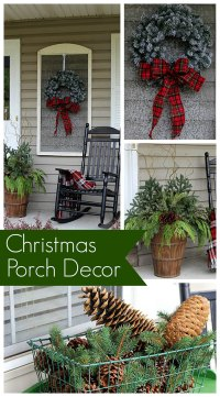 Christmas Porch Decorations - House of Hawthornes