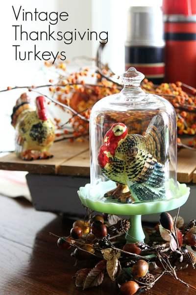 vintage thanksgiving decorations Vintage Thanksgiving Turkey Decor - House of Hawthornes