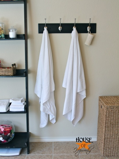 Master bathroom update new towel hooks  House of Hepworths
