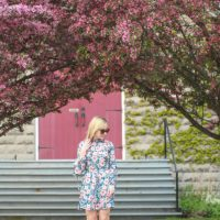 The Perfect Peony Print Tea Dress