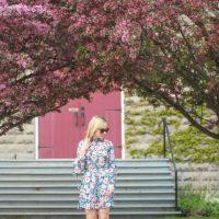 The Perfect Peony Print Tea Dress