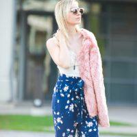 The Blush Pink Faux Fur Coat