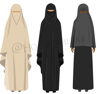 The different types of islamic veils and why they are worn. Differences Between Jilbab Hijab Khimar And Abaya House Of Jilbab