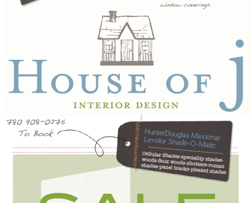 House of J Interior Design 2014 Winter Sale - Window Coverings