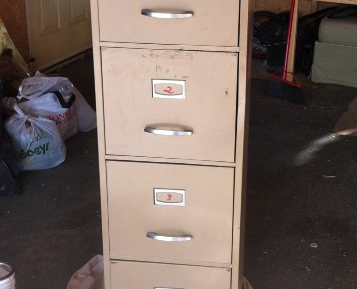 Old file cabinet found at Re-Store for $40