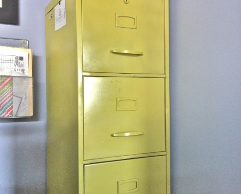 Painting Old Metal FIle Cabinet