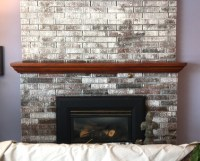 Painting a Brick Fireplace (How to Paint Brick White)