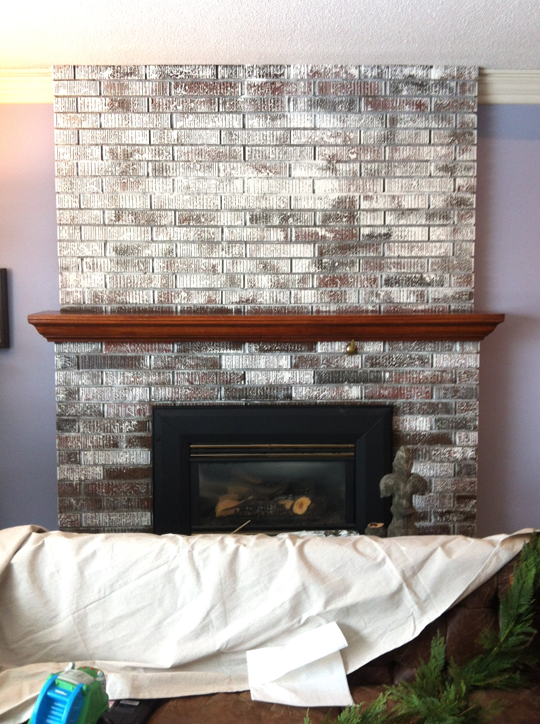 painting a brick fireplace how to paint brick white