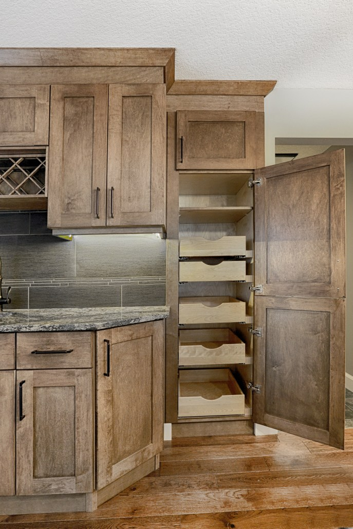 Custom Built Cabinetry With Pull Out Pantry By House Of J Interior Design