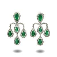 Emerald and Diamond Earrings - House of Kahn Estate Jewelers