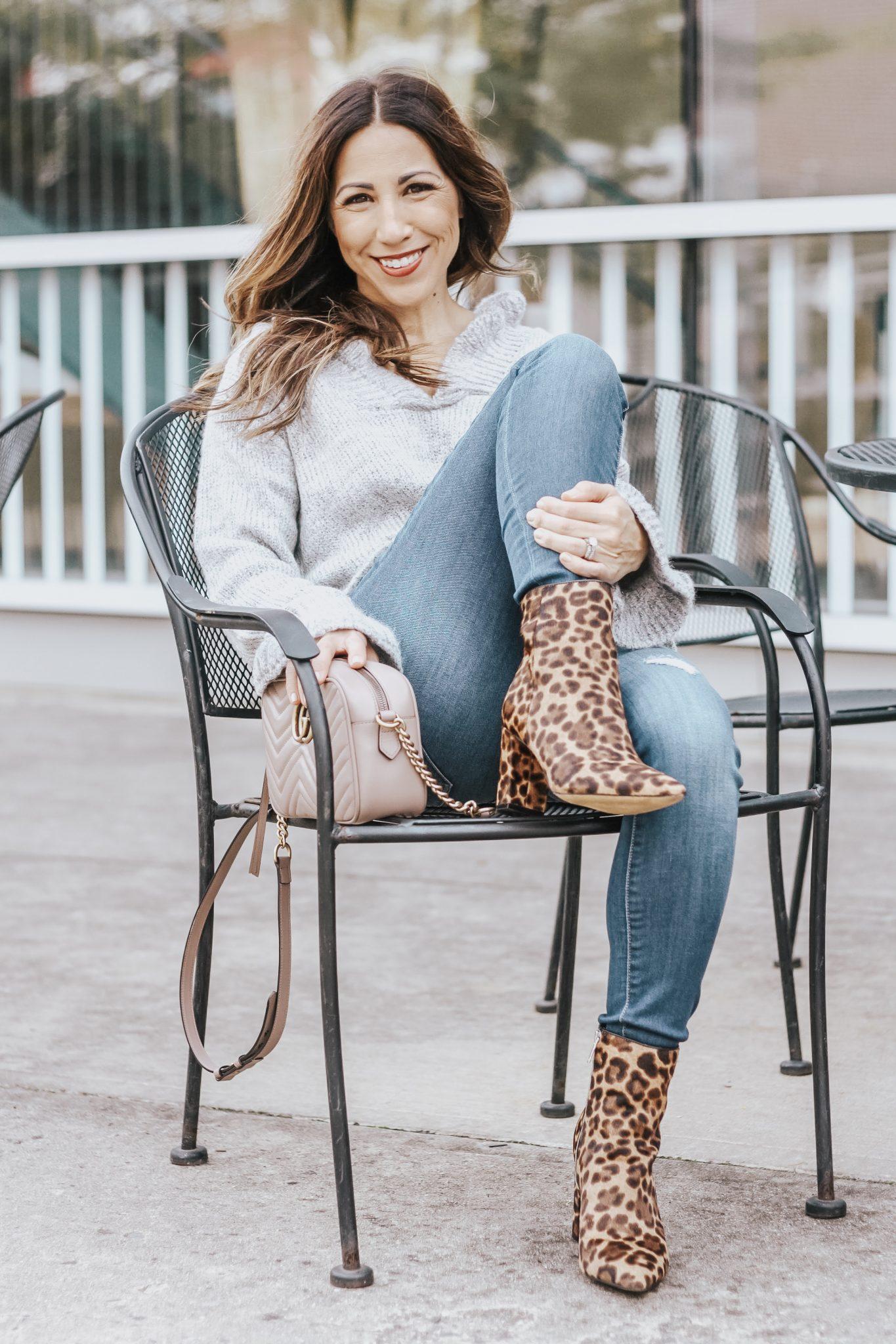 trending leopard booties