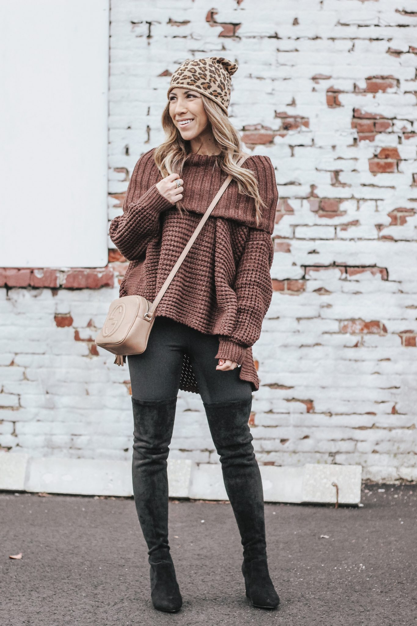 one oversized turtleneck styled 2 ways