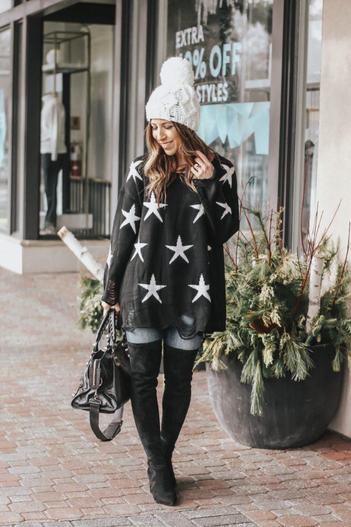 on trend: stars sweater