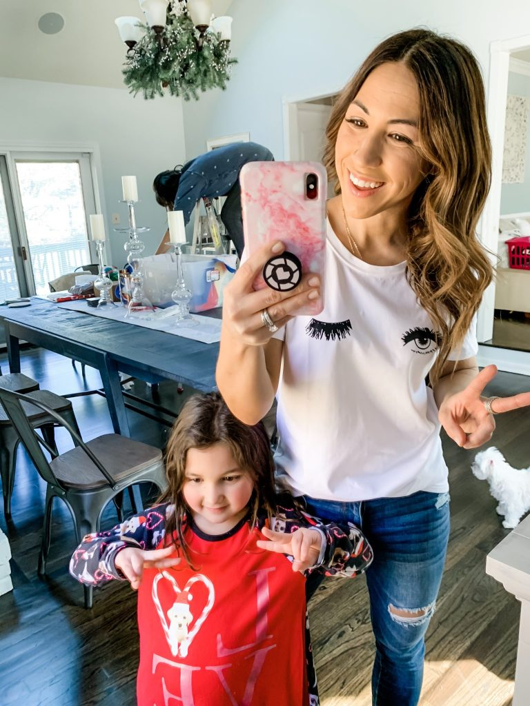 Amazon Haul by top US fashion blog, House of Leo Blog:ROSEPARK Women Funny Printing Graphic T shirt winking shirt
