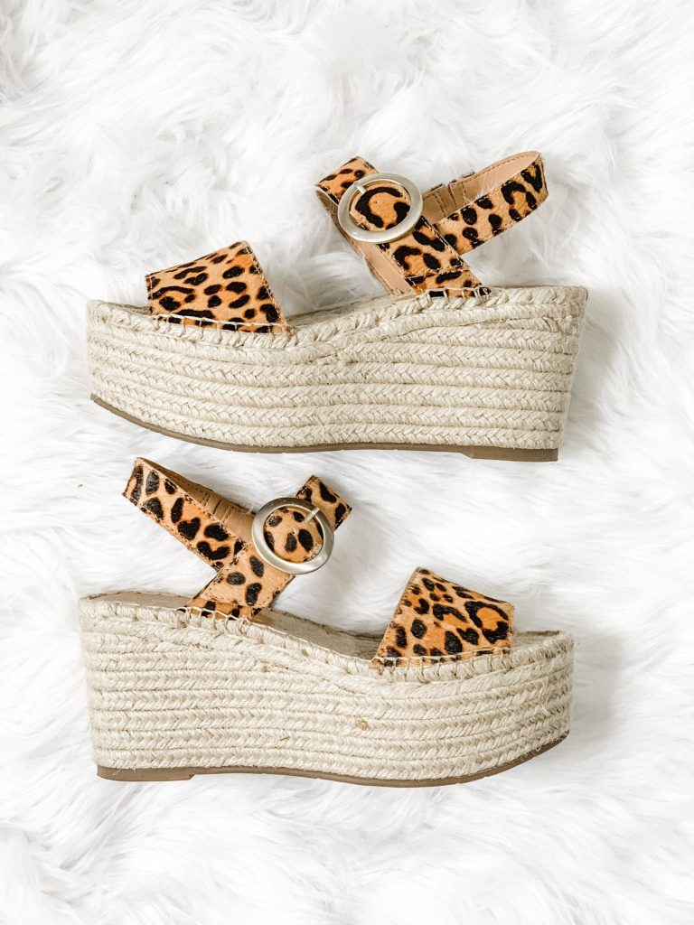 Spring Shoe Reivew by top US fashion blog, House of Leo Blog: image of Marc Fisher Rex Platform sandals