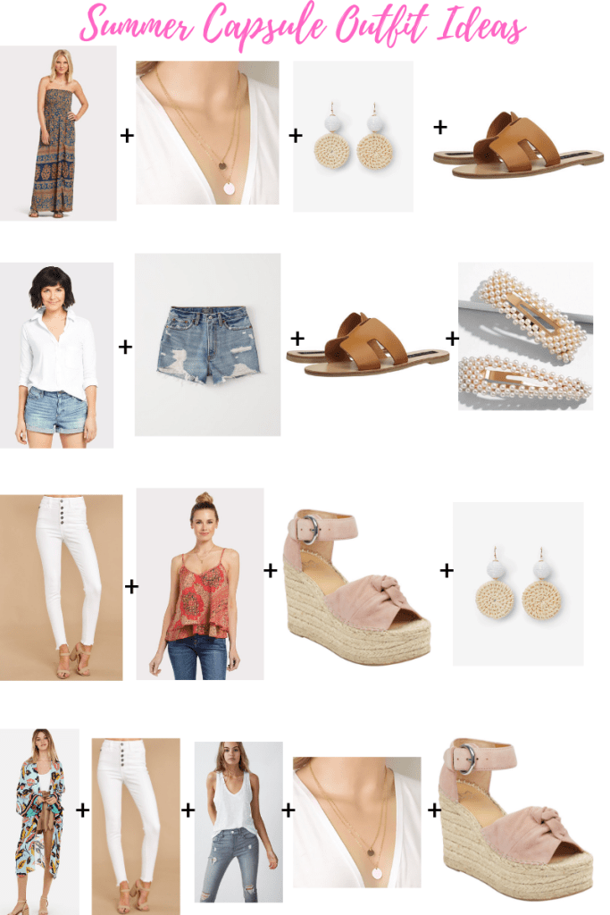 Summer Capsule 2019 by top US fashion blog, House of Leo Blog: image of outfit ideas for a summer capsule