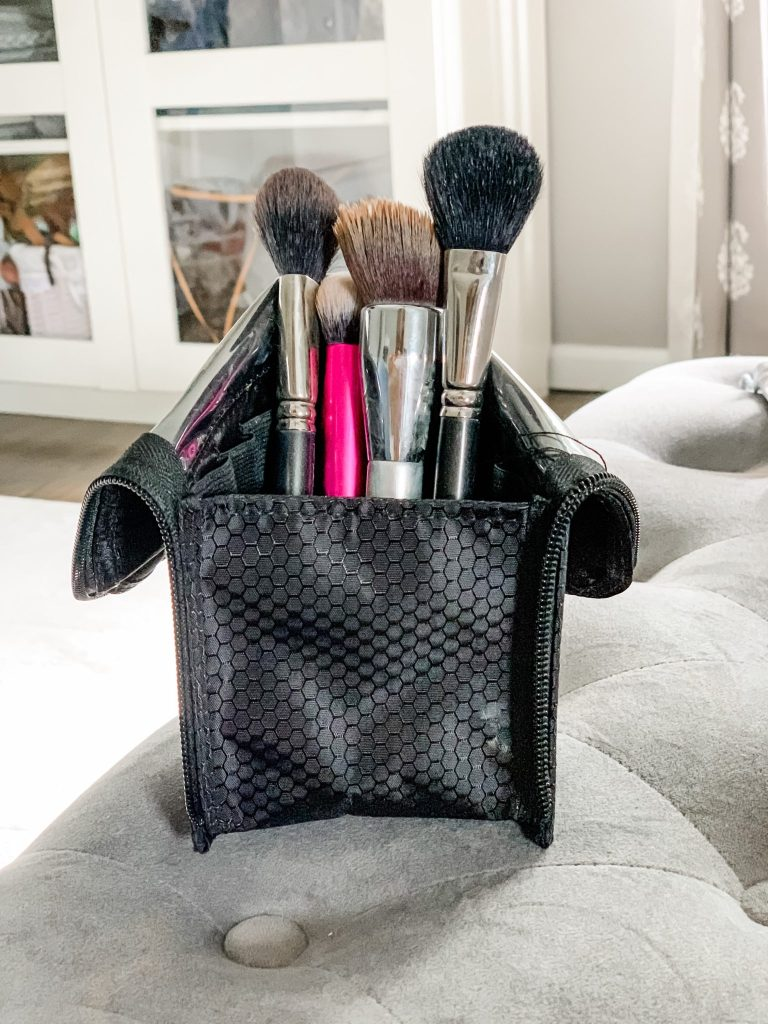 Amazon Haul June by top US fashion blog, House of Leo Blog: image of makeup brush organizer travel holder
