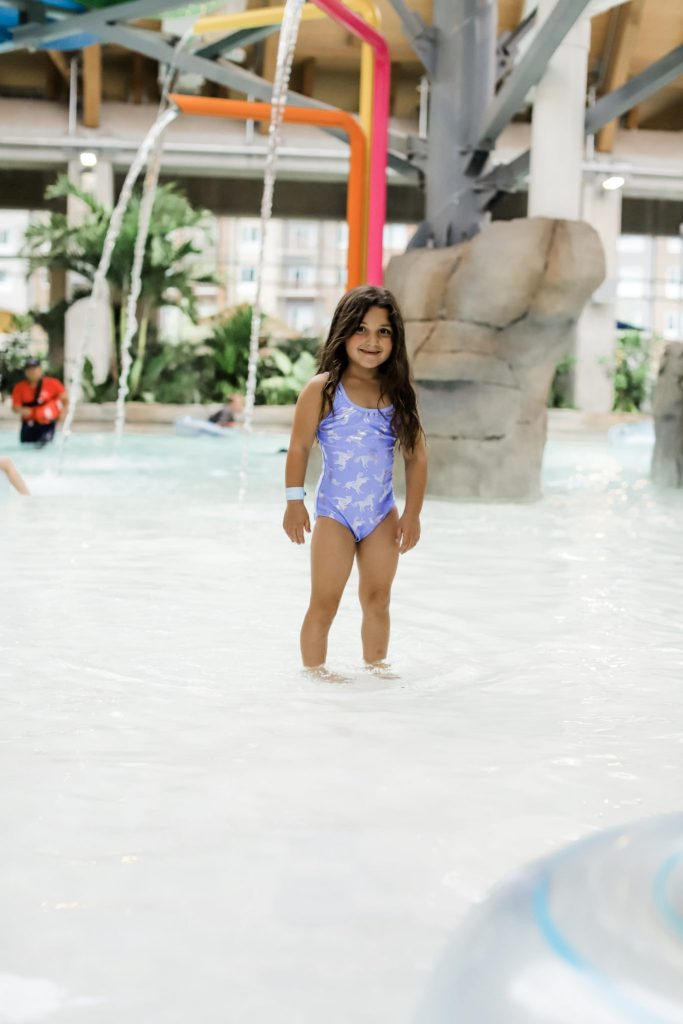 The Kartrite Resort Review by top US lifestyle blog, House of Leo Blog: image of child at Kartrite Resort Indoor Waterpark