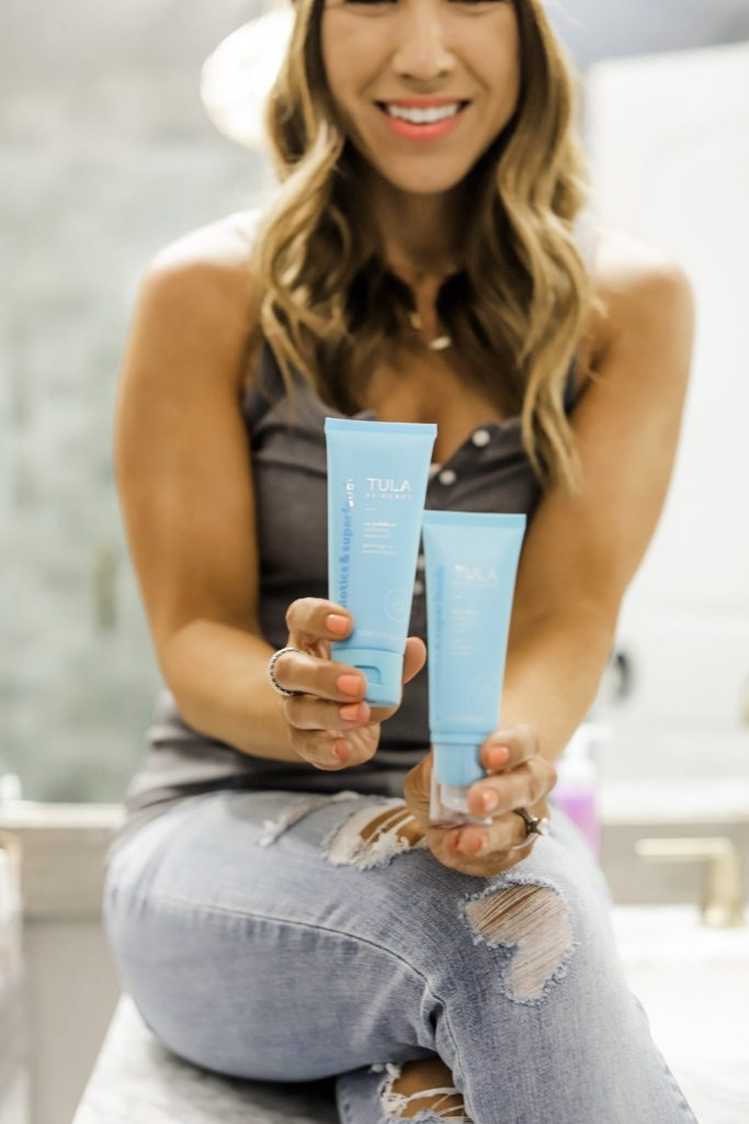 2 New Products From Tula by top US beauty blog, House of Leo Blog: image of Tula So Polished Sugar Scrub and Face Blurring and Moisturizing Primer