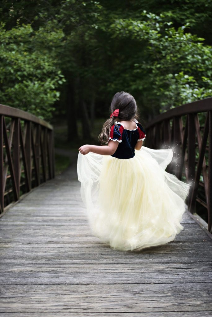 Princess Sessions With April Narby by top US lifestyle blog, House of Leo Blog: image of little girl dressed up as a magical Snow White