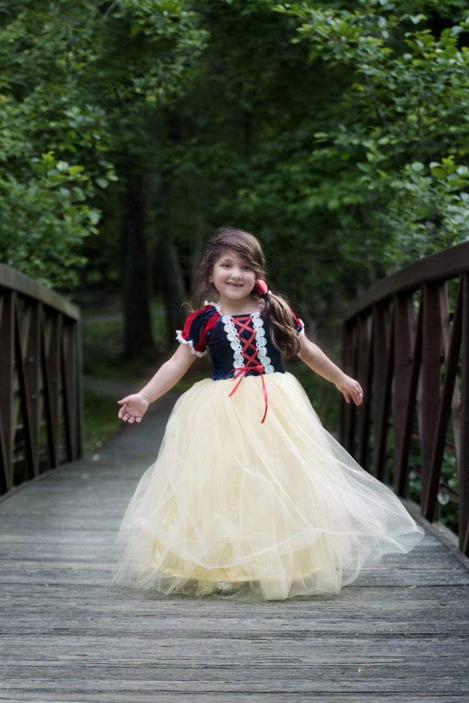Princess Sessions With April Narby by top US lifestyle blog, House of Leo Blog: image of little girl dressed up as Snow White