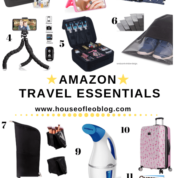 Amazon Travel Essentials by top US fashion blog, House of Leo Blog: image of Amazon travel essentials