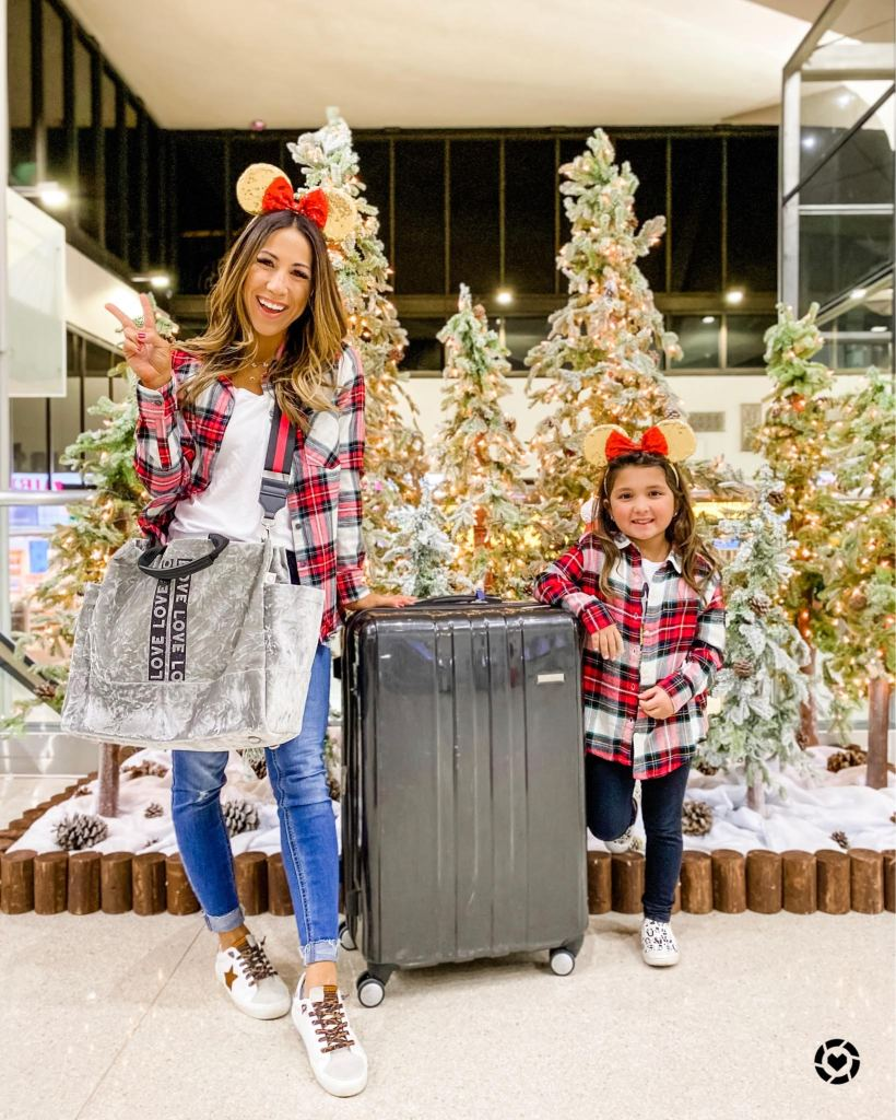 After Holiday Instagram Roundup by top US fashion blog, House of Leo Blog: image of woman and daughter in matching plaid flannels