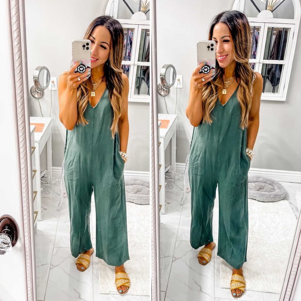 April Target Finds by top US fashion blog, House of Leo Blog: April Target finds, image of green jumpsuit