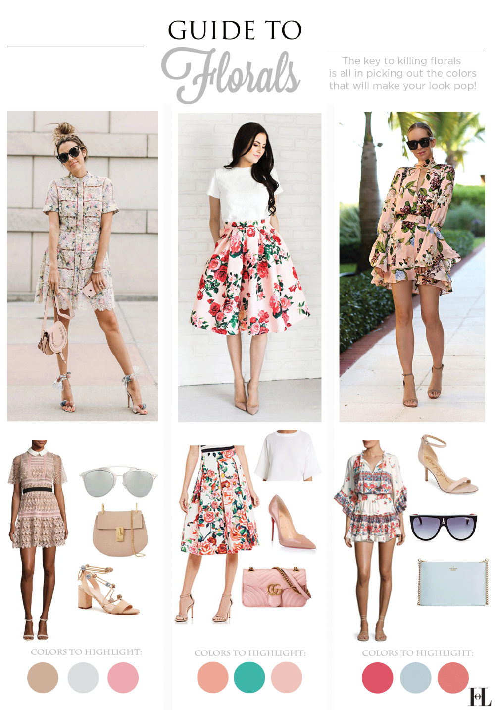how to wear floral patterns