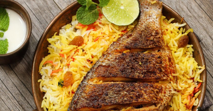 fish rice, Singaporean rice, mutton rice