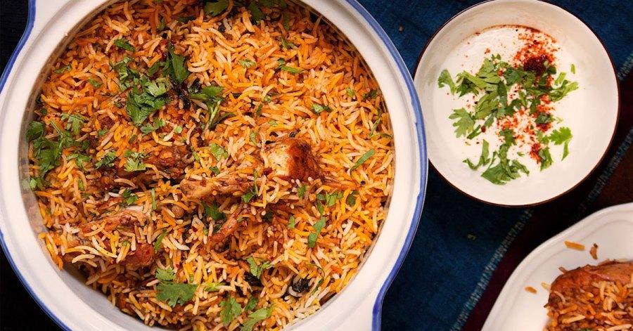 chicken rice, vegetable rice, mutton rice