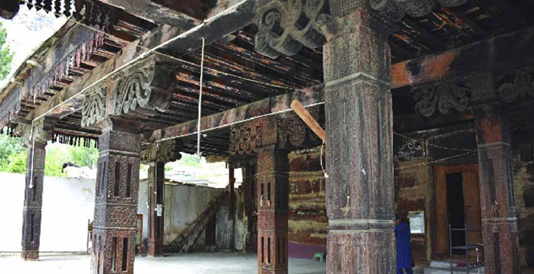 seo valley, wooden mosque, Indus Kohistan valley