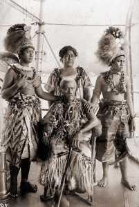 Samoan Chief and his Family