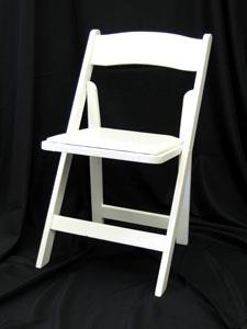 folding chair rental chicago antique high back wicker chairs resin white rentals il where to rent find in