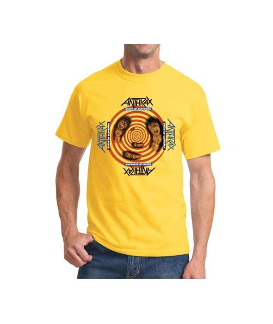 Camiseta ANTHRAX  State Of Euphoria Amarilla  House of Rock