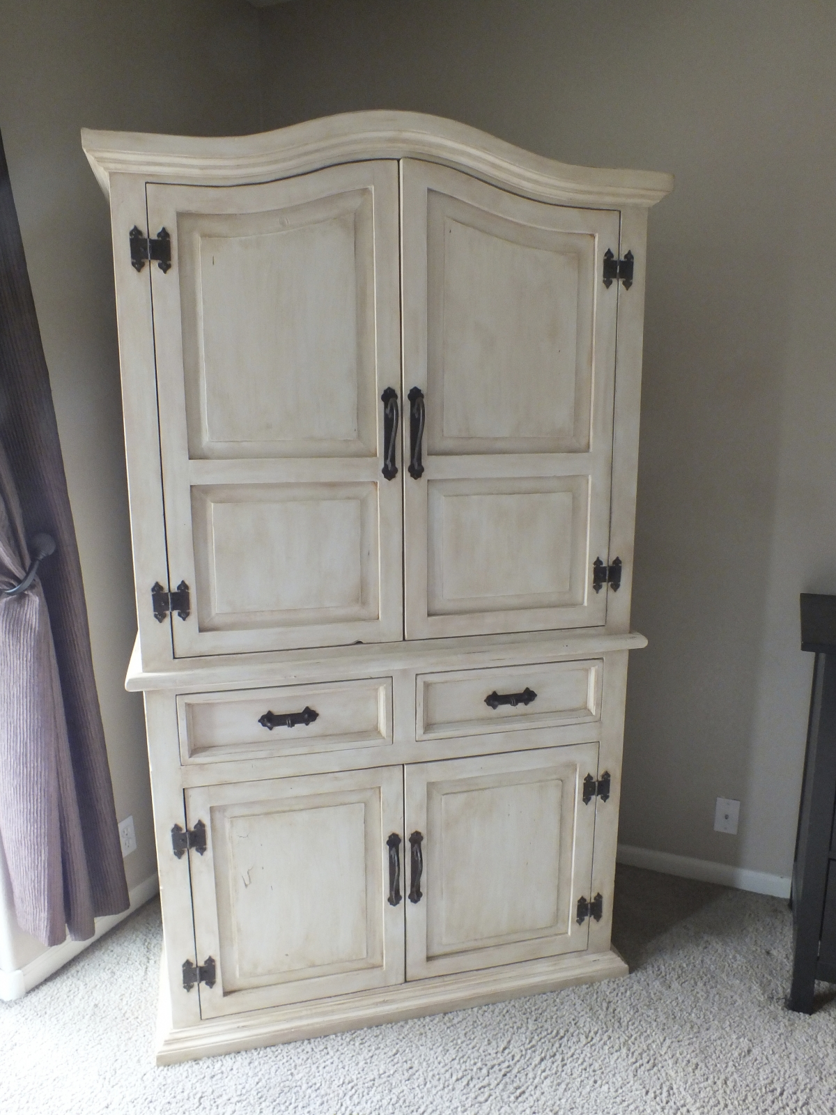 Tired of the Rustic Pine Look Armoire Facelift  House of Rumours