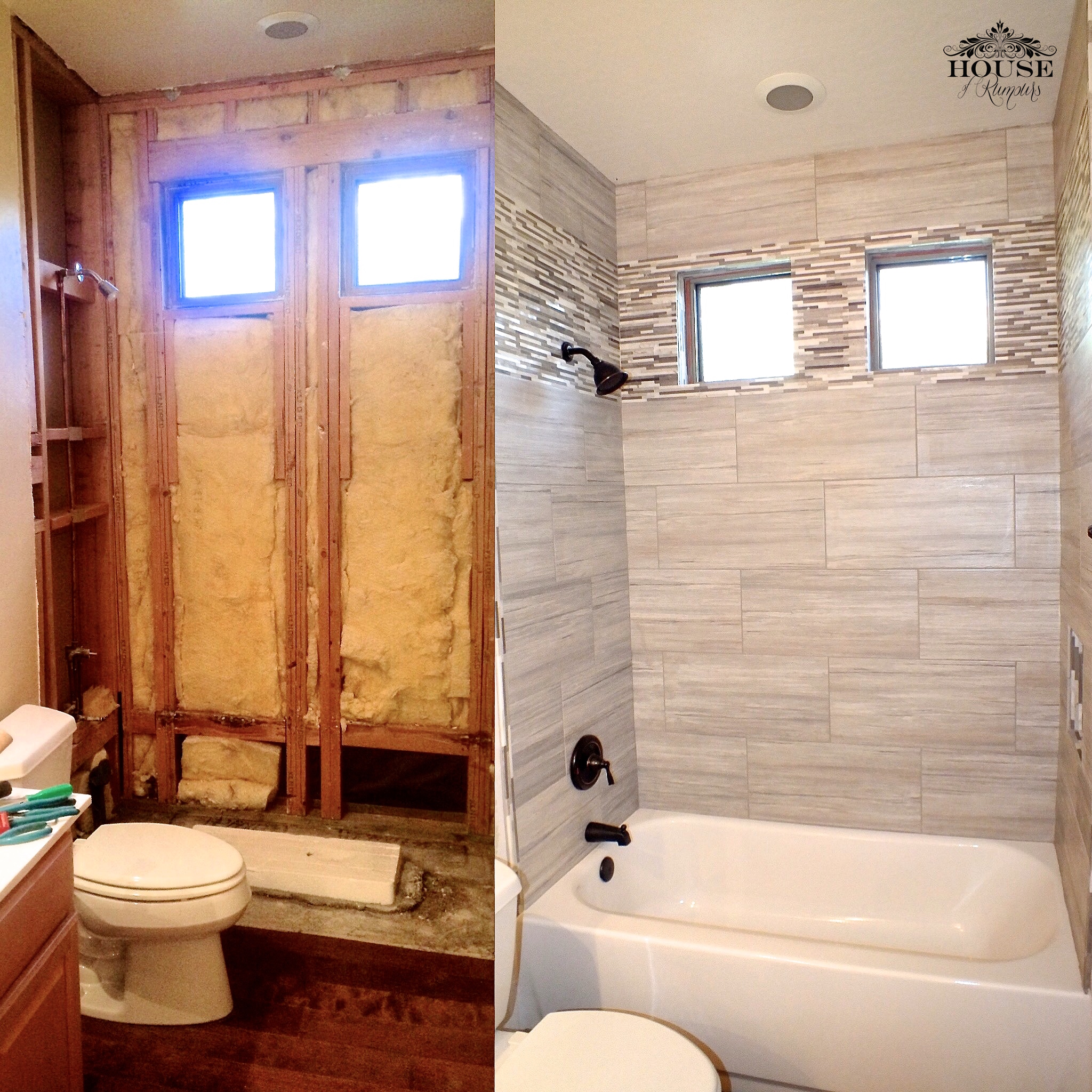 Greige Bathroom Renovation  House of Rumours