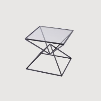 Black Pyramid Side Table