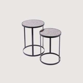 Antique Glass Side Tables – set of 2