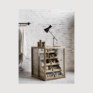 Rustic Storage Cabinet Farmhouse