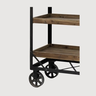 Kitchen Rustic Storage Trolley