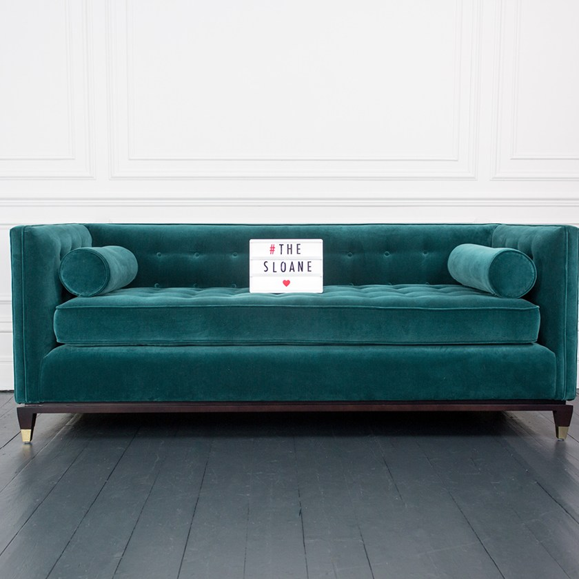 House of Sloane Velvet Sofa